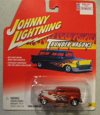 Johnny Lightning Thunder Wagons 1933 Ford Delivery Red - 1