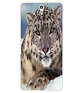ColourCraft Tiger Look Design Back Case Cover for SONY XPERIA C5 E5553 / E5506