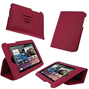 rooCASE Ultra-Slim (Magenta) Vegan Leather Folio Case for Google Nexus 7 Tablet (Built-in sleep / wake feature)