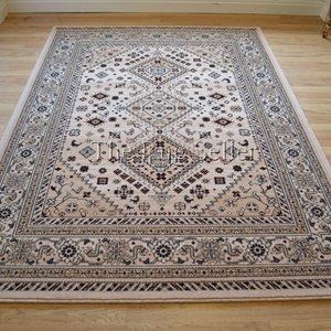Afghan rugs 9595 11 traditional wool in beige for Traditional kitchen rugs
