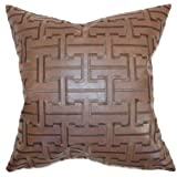 The Pillow Collection Quine Geometric Pillow, Espresso
