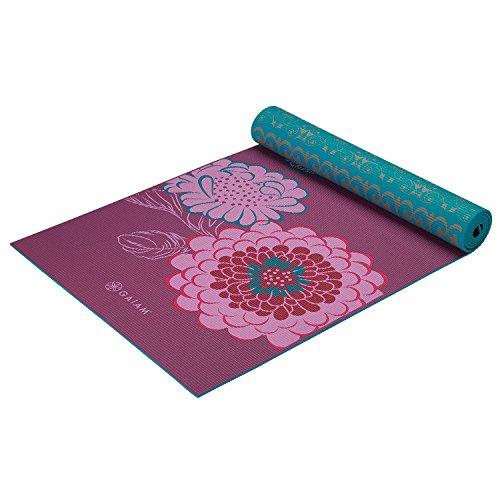 Gaiam Print Premium Reversible Kiku Yoga Mat, 5 mm