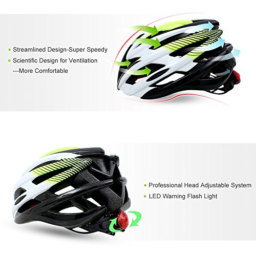 Magnetic Goggles Helmet Fivanus Adult Cycling Helmet Ultralight