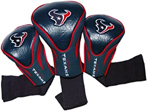 NFL Houston Texans 3 Pack Contour Fit Headcover by Team Golf