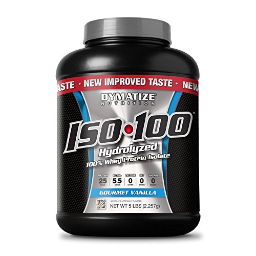 Dymatize ISO 100 Post Workout and Recovery Supplements, Gourmet Vanilla, 5 Pound
