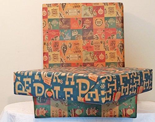 Retro Prints CHRISTMAS KRAFT WRAPPING PAPER (30 inches x 15 feet) 0