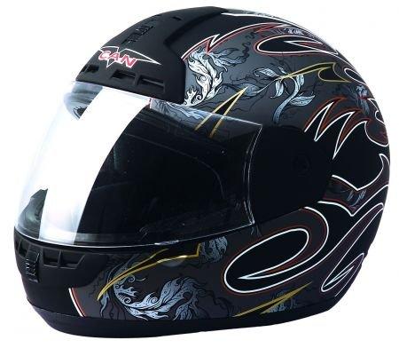 Protectwear Max-603-GR-L Motorradhelm, silbergrau / schwarz matt
