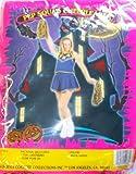 CaliforniaCostumes Pep Squad Cheerleader Blue Gold Child M NIP Costume