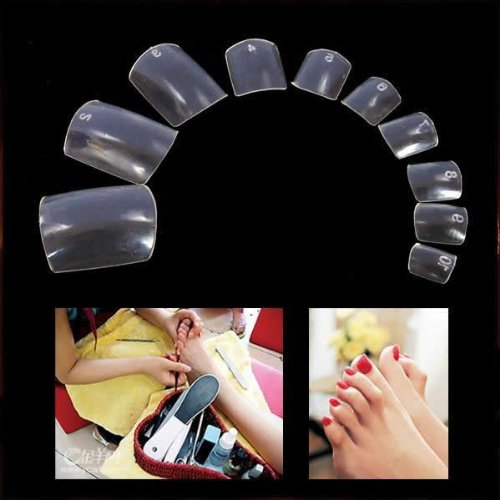 500 CLEAR False Toenails Toe nails, Clear