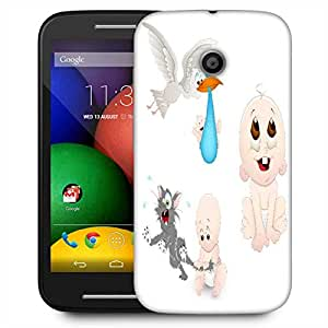 Snoogg Cute Baby Vectors Designer Protective Phone Back Case Cover For Motorola E2 / MOTO E22