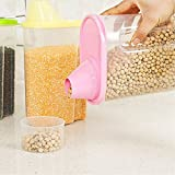 Forever 3 Pcs Cereal Dispenser Jar Set Of 3 Idle For Kitchen- Storage Box Lid Food Rice Pasta Container