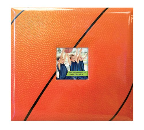MCS 8 by 8 Sports 20 Page Basketball Scrapbook with Photo Opening, Front