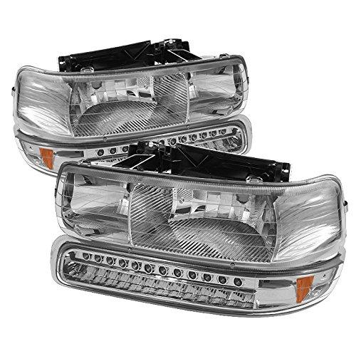 Spyder Auto Hd-Jh-Csil99-Led-Set-C Headlight With Led Bumper Light