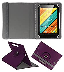ACM ROTATING 360° LEATHER FLIP CASE FOR DIGIFLIP PRO XT712 TAB TABLET STAND COVER HOLDER PURPLE