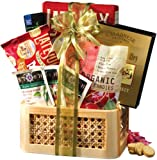 Broadway Basketeers Organic and Natural Healthy Gift Basket - A Healthy Mothers Day Gift Basket