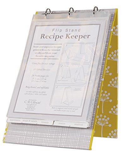 C.R. Gibson Vertical Recipe Keeper Flip Stand by Lotta Jansdotter, Fresh (Recipe Flip Binder compare prices)