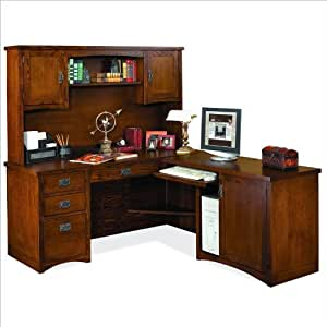 Kathy Ireland Home By Martin Furniture Mission Pasadena Rhf L Shape Wood Desk With