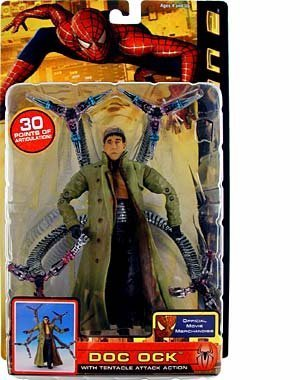 Spider-Man 2 Doc Ock with Tentacle Attack Action Figure by Toy Biz (English Manual)