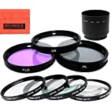 72mm Multi-Coated 7 Piece Filter Set Includes 3 PC Filter Kit (UV-CPL-FLD-) And 4 PC Close Up Filter Set (+1+2+4+10) For Nikon COOLPIX P530 Digital Camera + Filter Adapter