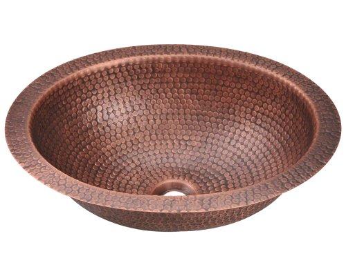 MR Direct 909 Single Bowl Oval Copper Sink (Mr Direct 909 Copper compare prices)