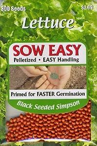 Livingston Seed 5121 Sow Easy Lettuce Black Seeded Simpson Seed Packet