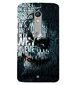 PrintDhaba QUOTE D-6983 Back Case Cover for MOTOROLA MOTO X PLAY (Multi-Coloured)