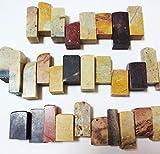 招福堂 篆刻 落款 天然石 自然石 ( 練習用 お試し ) 5個セット 印材 印石ですがインテリア オブジェ 鑑賞で癒やしにも (D 寿石(5個セット))