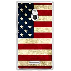 Casotec USA Flag Design 2D Hard Back Case Cover for Nokia XL