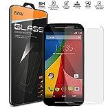 Moto G2 Screen Protector, E LV Motorola Moto G2/ Motorola Moto G(2nd Gen.) ANTI-SHATTER Tempered GLASS Screen...