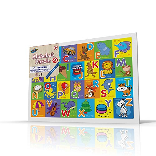 Alphabet Puzzle for Toddlers, 26 Pc Large Size Alphabets with Cute Pictures on it, Ideal for Boys/Girls with 3+ Years of Age, Smart Learning and Development Jigsaw Puzzle Toy/Game, Great Gift Idea. (Yugioh Number 51 compare prices)