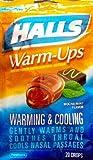 Halls Warm-ups Cough Suppressant Drops Mocha Mint -- 20 Drops Per Bag, Pack of 4 Bags