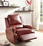 Furniture of America Alonzo Leatherette Recliner, Red - Best Reviews Guide