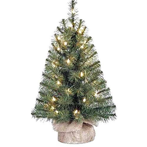 Holiday-Time-Xmas-Pre-Lit-2-Noble-Fir-Artificial-Trees-Clear-Lights-Burlap-Base-Christmas-Tree-Stand-1