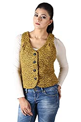 Owncraft yellow animal print wool jacket.