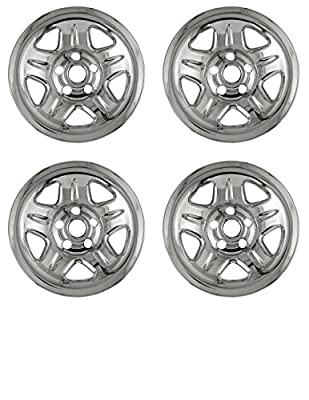 Set of 4 Chrome Wheel Skin Hubcap w Center: Jeep ('93 - '01 Cherokee/ '97 - '01 Wrangler) 15x7 Inch 5 Lug Steel Rim -Aftermarket: IMP/05X