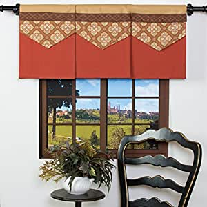 spice it up window valance pumpkin rust orange. Black Bedroom Furniture Sets. Home Design Ideas
