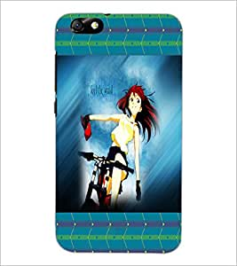 PrintDhaba Cycling Girl D-4592 Back Case Cover for HUAWEI HONOR 4X (Multi-Coloured)