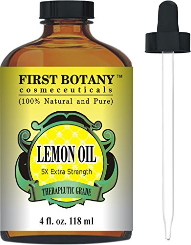 Lemon Essential Oil 5X Extra Strength 4 fl. Oz 100% Pure & Natural Therapeutic Grade - Cold Pressed Premium Quality Oil from Italy (Pressed From compare prices)