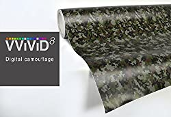 See Digital Camo vinyl car boat vehicle wrap 2ft x 5ft self adhesive stretch conform decal DIY Details