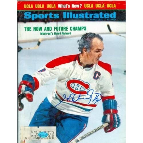 Henri Richard Autographed/Hand Signed Sports Illustrated Magazine (Montreal Canadiens) sale off 2015
