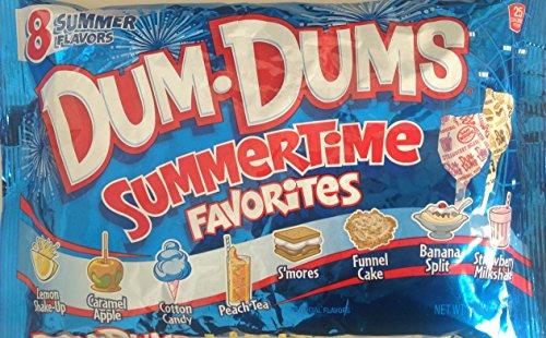 Dum-Dums Summertime Favorites Pops, 44 Pops; 8 Flavors: Funnel Cake, Banana Split, S'mores, and more (Single Bag) (Banana Split Dum Dums compare prices)