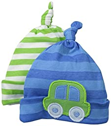 Gerber Baby Boys\' 2 Pack Novelty Caps, Cars, 0-6 Months