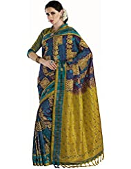Anvika Women's Silk Saree (110000000069, Blue)