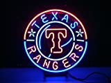 NEW MLB TEXAS RANGERS BASEBALL REAL GLASS NEON BEER BAR PUB LIGHT SIGN Handcrafted 19*15 at Amazon.com