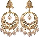 Violet & Purple Gold Plated Dangle & Drop Earrings For Women (1000029556)