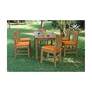 Anderson Teak Saratoga Patio Dining Set Outdoor And Patio Furniture Sets Patio