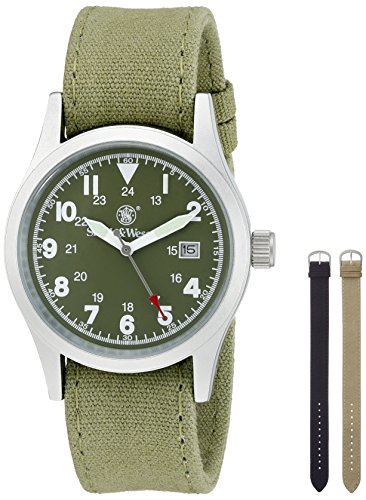 smith-wesson-mens-sww-1464-od-military-silver-tone-watch-with-interchangeable-canvas-bands