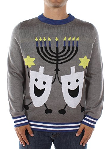 Ugly Christmas Sweater - Hanukkah Sweater by Tipsy Elves (L)