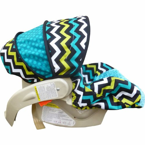 Lagoon Chevron Infant Car Seat Cover