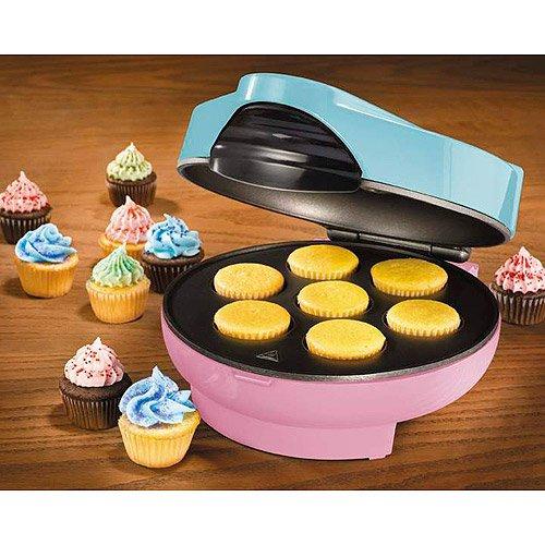 Electrics Kitchen Mini Cupcake Maker, Indicator Lights, Non-Stick, Simple Clean